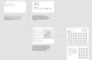 wireframe userflow für hismo - digitale Anwendung für Archäologie