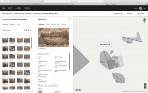Iteration des Interfaces einer gezoomten Grabungsübersicht von hismo