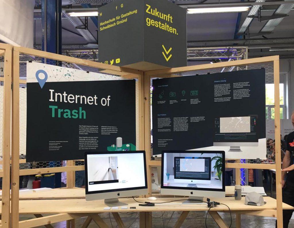 Messe Stand von Internet of Trash an der MAKE Ostwürttemberg
